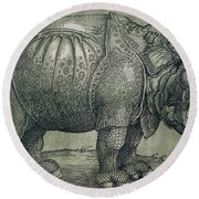 The Rhinoceros Round Beach Towel