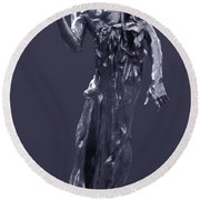 The Sculpture Of Auguste Rodin Round Beach Towel