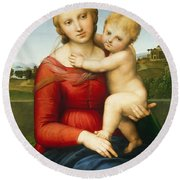The Small Cowper Madonna Round Beach Towel
