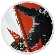 The Ussr Is The Elite Brigade Of The World Proletariat 1931 Round Beach Towel