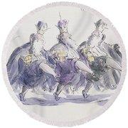 Three Kings Dancing A Jig Round Beach Towel