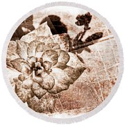 Thumbelina Rose - Miniature Rose - Digital Paint II Round Beach Towel