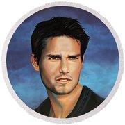 Tom Cruise Round Beach Towel