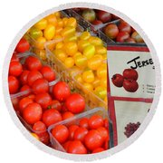Tomatoes Nj Special Round Beach Towel