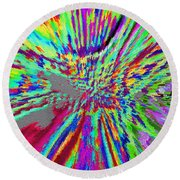 Under The Microscope One Ounce Of Human Fat  Round Beach Towel by Sir Josef - Social Critic -  Maha Art