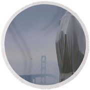 Veil Monument Round Beach Towel