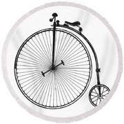 Vintage Bicycle Round Beach Towel