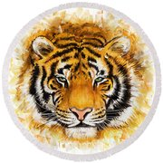 Wild Tiger Round Beach Towel