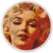You Remember M M  Round Beach Towel