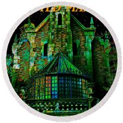 Haunted Mansion Poster Work A Round Beach Towel