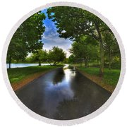 001 After The Rain At Hoyt Lake Round Beach Towel