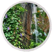 001 Falling Waters For The Cactus Lover In You Buffalo Botanical Gardens Series Round Beach Towel