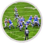0010 Buffalo Bills Vs Jets 30dec12 Round Beach Towel
