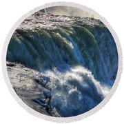 0010 Niagara Falls Winter Wonderland Series Round Beach Towel