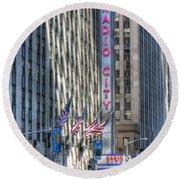 0010 Radio City Music Hall Round Beach Towel