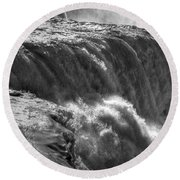 0010a Niagara Falls Winter Wonderland Series Round Beach Towel