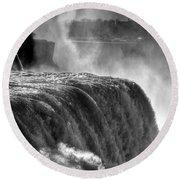 0011a Niagara Falls Winter Wonderland Series Round Beach Towel