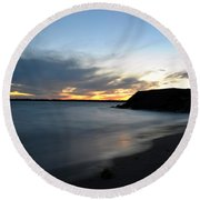 0012 Awe In One Sunset Series At Erie Basin Marina Round Beach Towel
