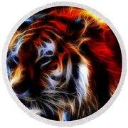 0012 Siberian Tiger Round Beach Towel