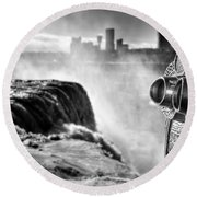 0016a Niagara Falls Winter Wonderland Series Round Beach Towel