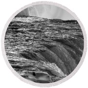 0017a Niagara Falls Winter Wonderland Series Round Beach Towel