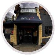 0018 Soho Burger Bar Round Beach Towel