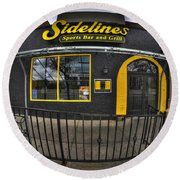 002 Sidelines Sports Bar And Grill Round Beach Towel