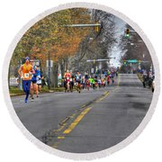 002 Turkey Trot  2014 Round Beach Towel