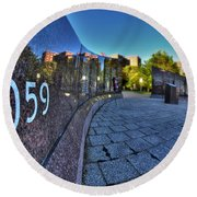 002 We Will Not Forget At The Erie Basin Marina Round Beach Towel