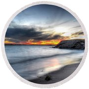 0020 Awe In One Sunset Series At Erie Basin Marina Round Beach Towel