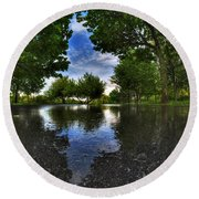 003 After The Rain At Hoyt Lake Round Beach Towel