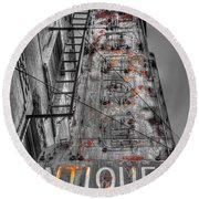003 Antiques  Round Beach Towel