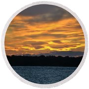003 Awe In One Sunset Series At Erie Basin Marina Round Beach Towel