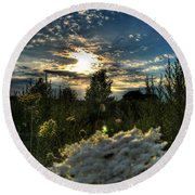 003 Life Is Beautiful Round Beach Towel