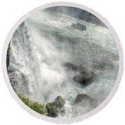 003 Niagara Falls Misty Blue Series Round Beach Towel