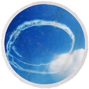 0036 - Air Show - Acanthus Round Beach Towel