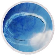 0036 - Air Show - Lux Round Beach Towel