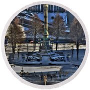 0037 Birdseye View Of Lafayette Square Round Beach Towel