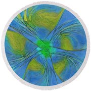 004 Abstract Round Beach Towel