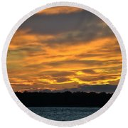 004 Awe In One Sunset Series At Erie Basin Marina Round Beach Towel