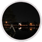 004 Japanese Garden Autumn Nights   Round Beach Towel