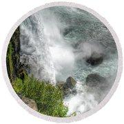 004 Niagara Falls Misty Blue Series Round Beach Towel