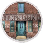 0044 Foundry Building Round Beach Towel