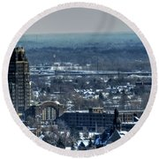 0045 After The Nov 2014 Storm Buffalo Ny Round Beach Towel