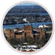 0048 After The Nov 2014 Storm Buffalo Ny Round Beach Towel
