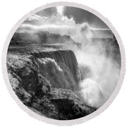 004a Niagara Falls Winter Wonderland Series Round Beach Towel