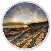 005 After The Ice Melts Erie Basin Marina Series Round Beach Towel