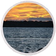 005 Awe In One Sunset Series At Erie Basin Marina Round Beach Towel