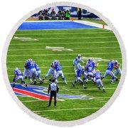005 Buffalo Bills Vs Jets 30dec12 Round Beach Towel