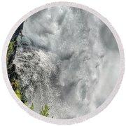 005 Niagara Falls Misty Blue Series Round Beach Towel